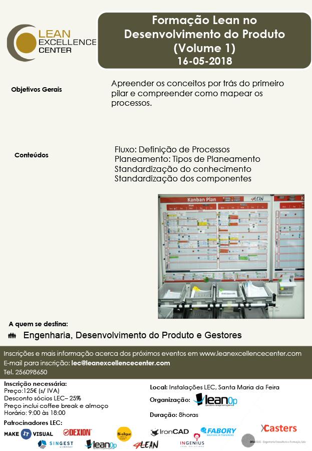 Training Lean no Desenvolvimento do Produto (Volume 1) - 16 May 2018